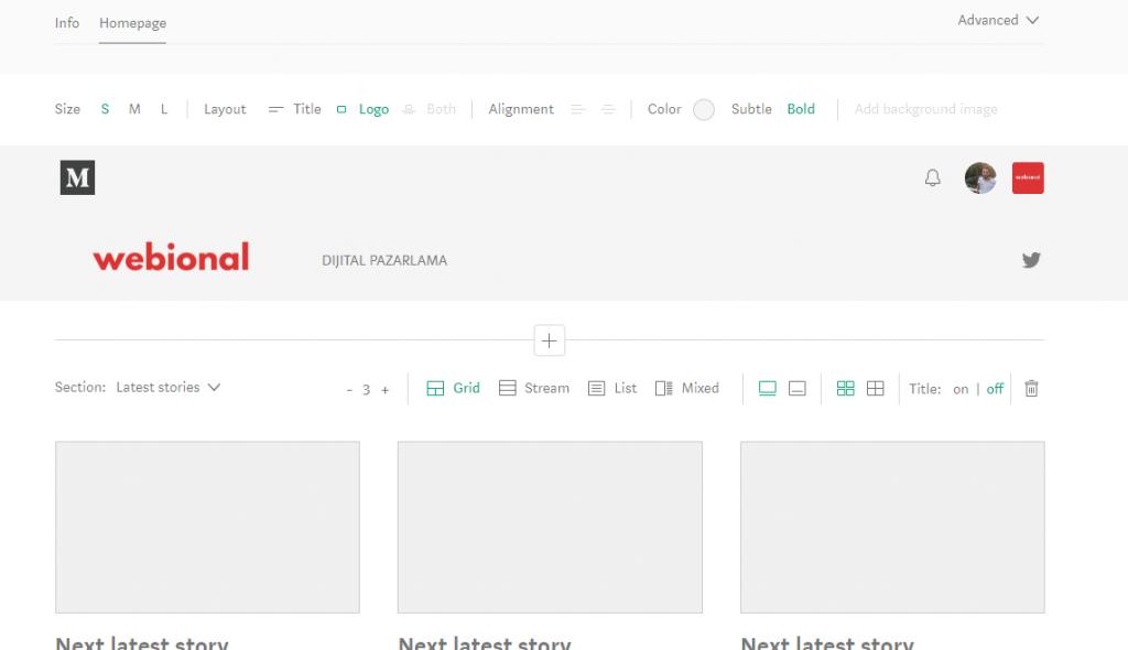 medium blog açma ayarları