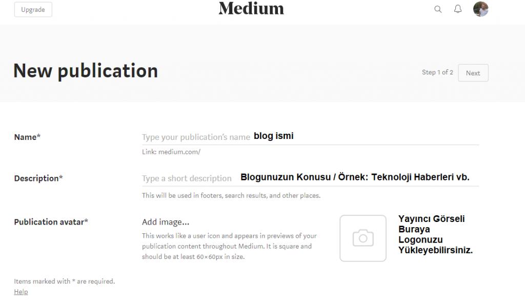medium ile website kurmak