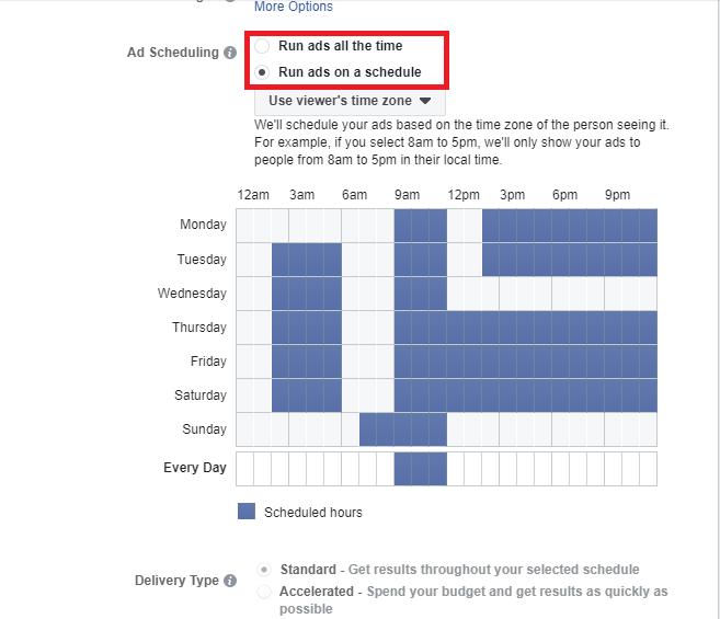 facebook reklam saatleri