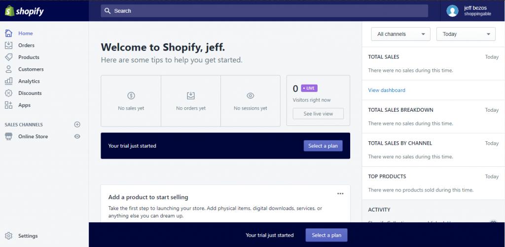 shopify e-ticaret sitesi kurma 4.adım