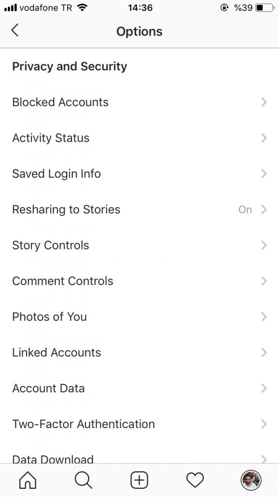 facebook hesabını instagrama bağlamak