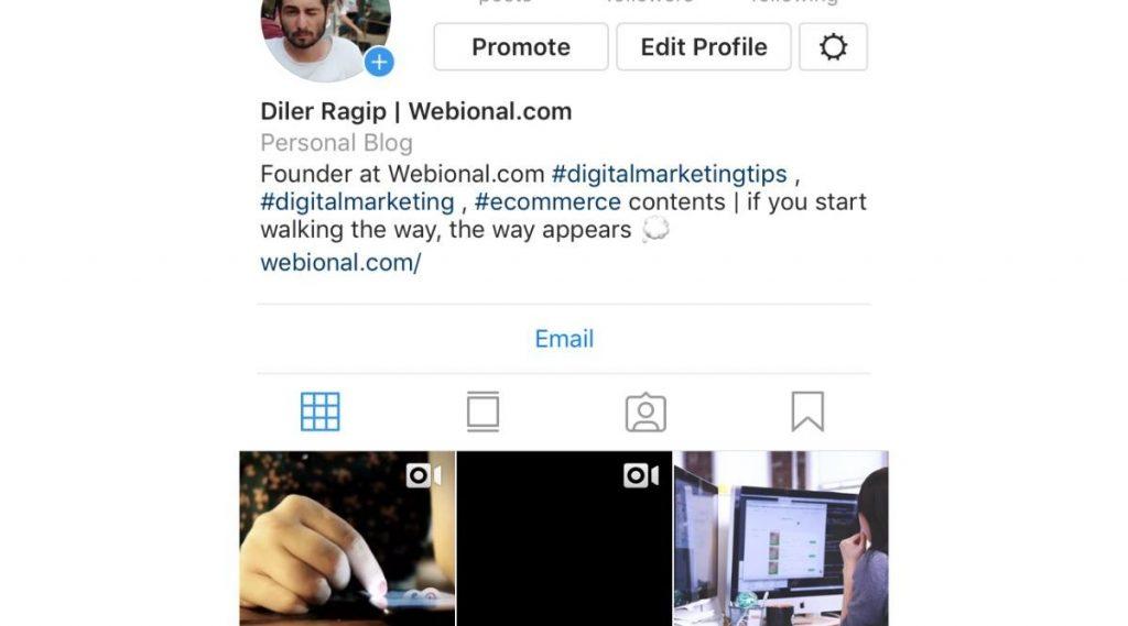 instagram profilini facebook sayfasına bağlamak