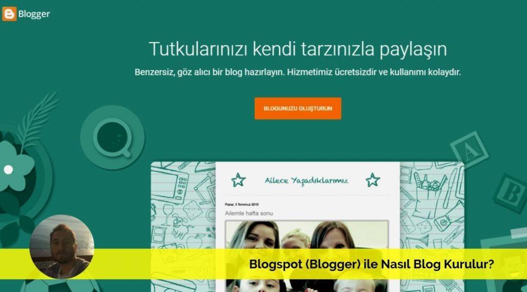 blogger ile nasıl blog kurulur blogspot