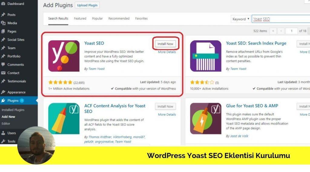 WordPress Yoast SEO Eklentisi Nasıl Kurulur
