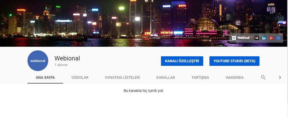 youtube anasayfa ayarları