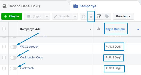 facebook reklam kapatma nasıl yapılır