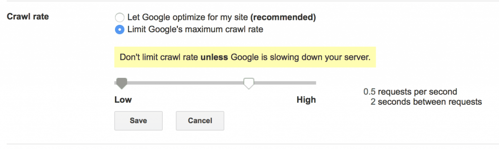 google crawl rate - tarama hızı