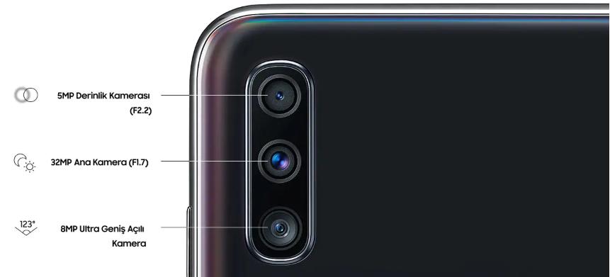 samsung a70 kamera özellikleri nasıl