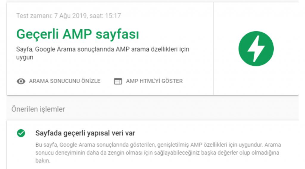 amp sayfaları nasıl test edilir
