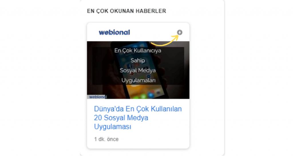 google news ve discover amp sonuçları