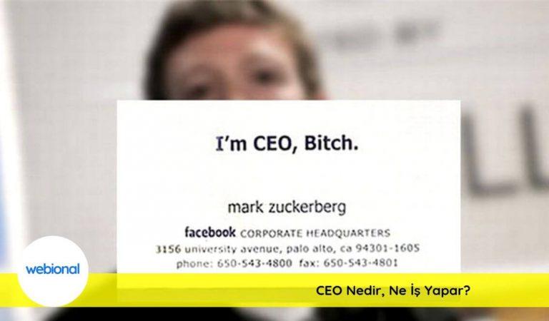 CEO Ne Demek? CEO Nedir? CEO Açılımı Nedir?