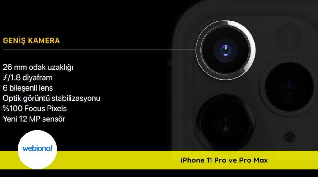 iphone 11 pro max geniş kamera