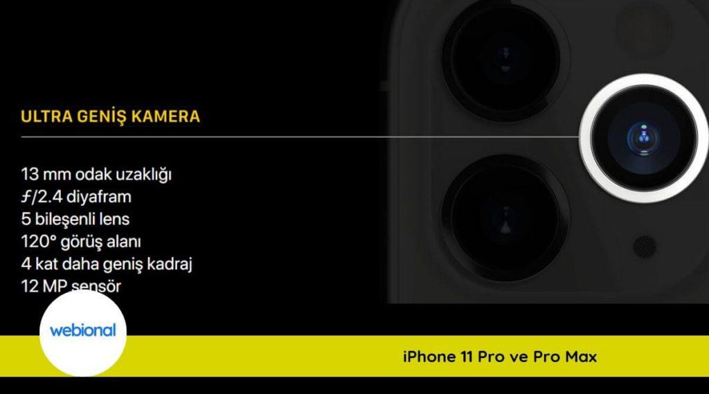 iphone 11 pro max ultra geniş açı kamera özellikleri