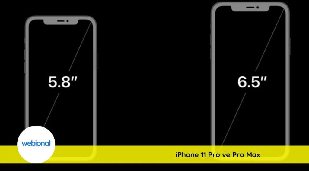 iphone 11 pro ve iphone 11 pro max farkları