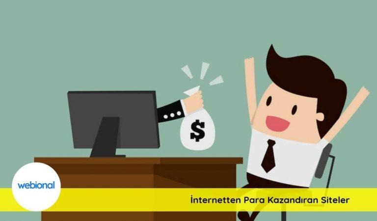 İnternet Üzerinden Para Kazandıran Siteler